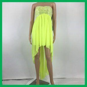 NWT My Michelle Jurniors Dress Size 1 Neon Green